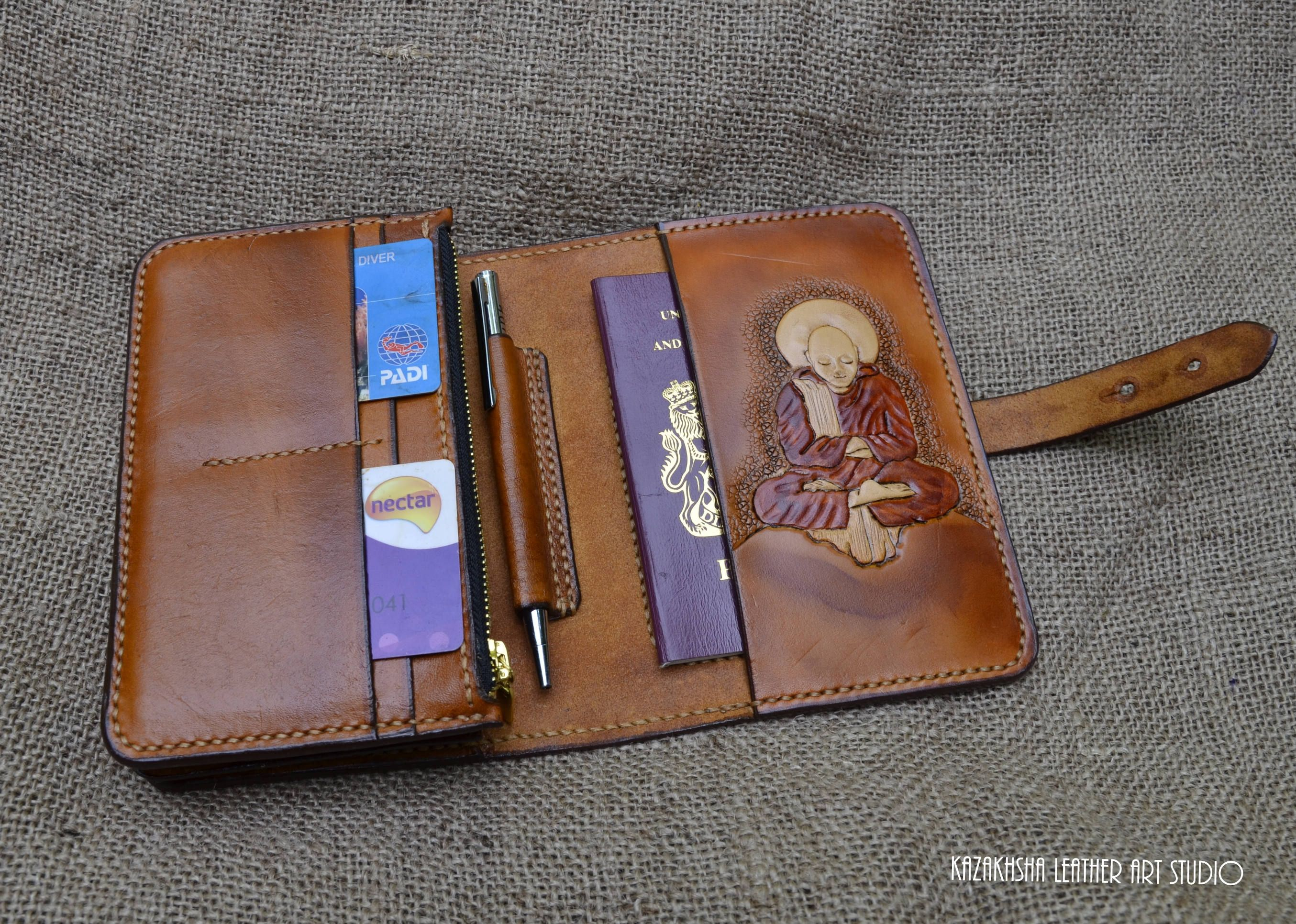 Leather wallet Genuine Leather Wallet Designer piece, can