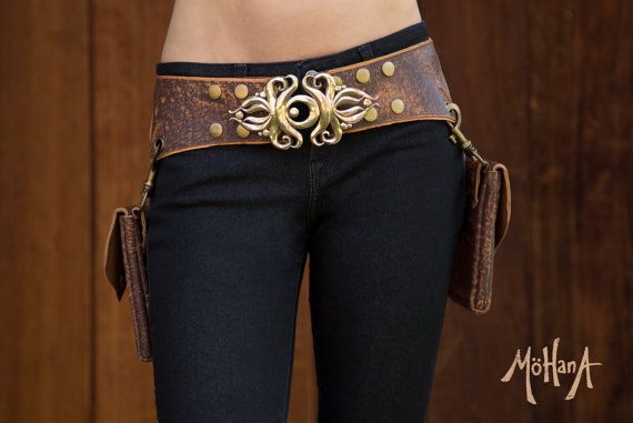 af989836b38 Mohana Leather Pocket Belt Bag - Marbled Brown and Tan - Trade it ...