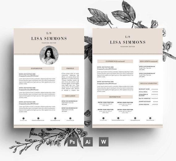 beige colour vintage resume  cover letter  business card    3