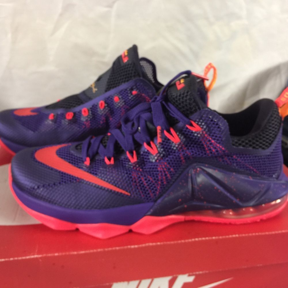 5f8e3a89937ba Nike Lebron 12 XII Low Sz 10 Court Purple Bright Crimson Men s THE 12   fashion  clothing  shoes  accessories  mensshoes  athleticshoes (ebay link)