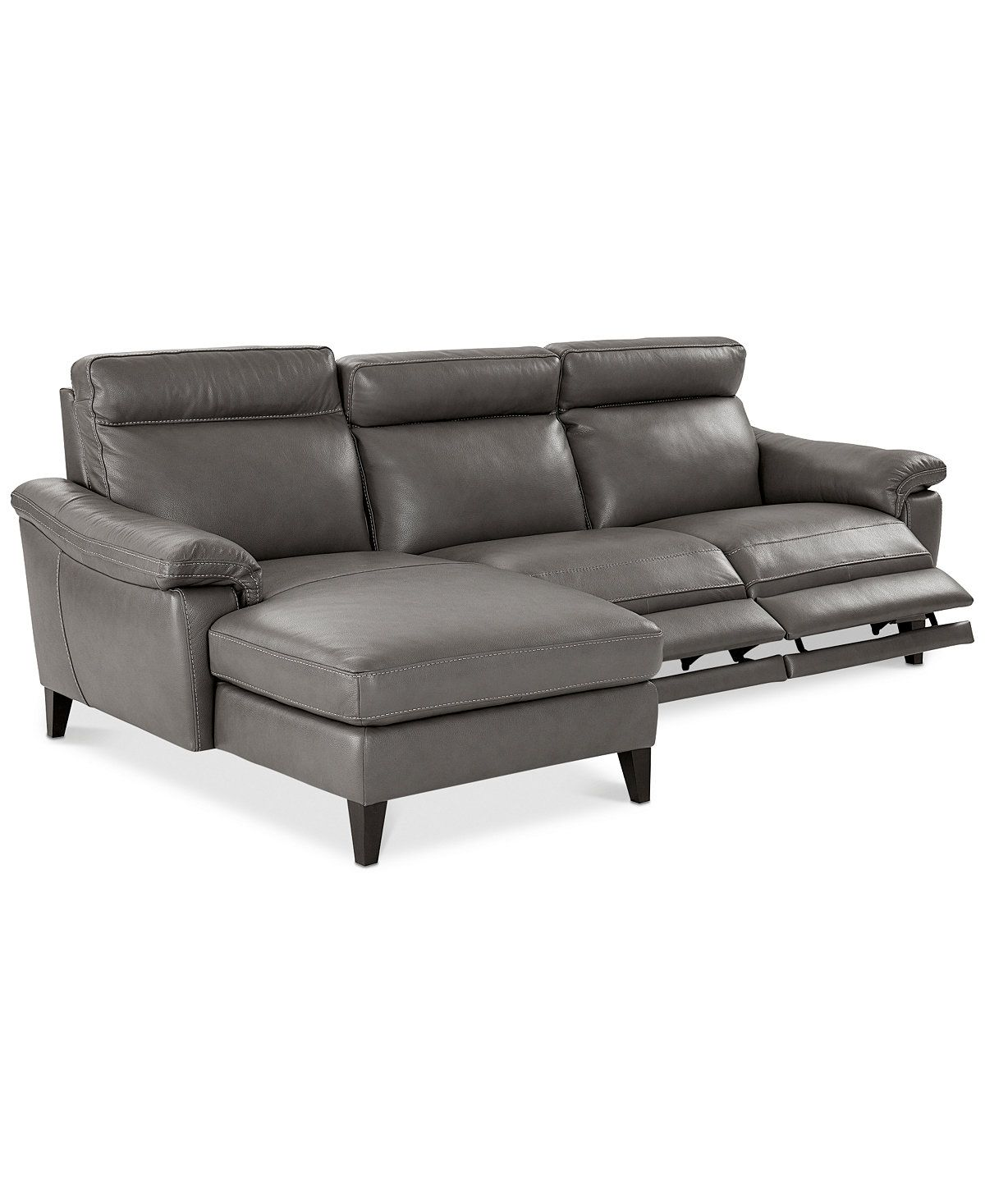 Chaise Pc Closeout Pirello 3 Pc Leather Sectional Sofa With Chaise 2