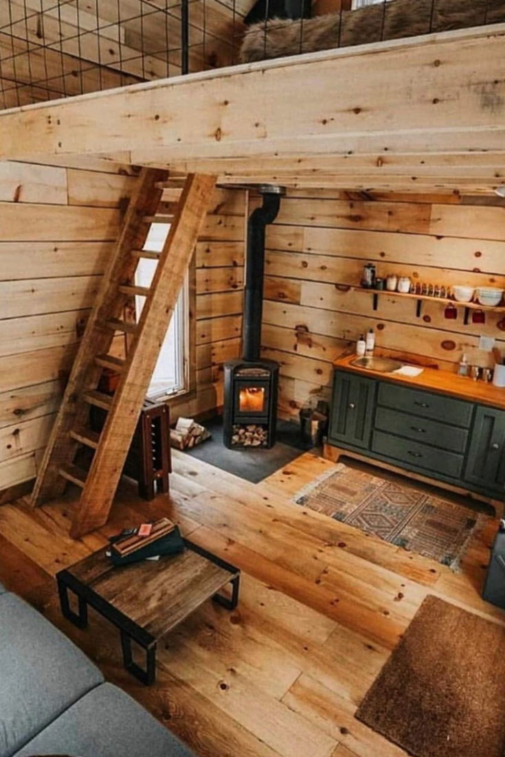 49 Kreative Rustikale Wohnideen Kleines Haus Design Kreative Wohnideen Rustikal In 2020 Tiny House Interior Small House Design House Decor Rustic