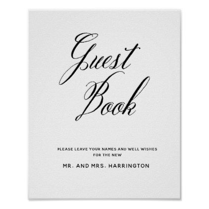 Hand Letter Chic Wedding Guest Book Sign  Wedding And Wedding