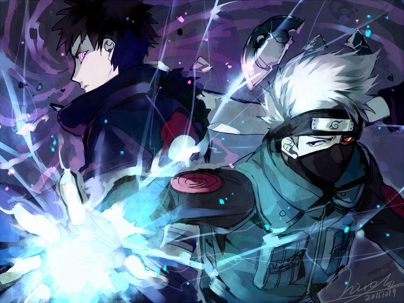 Artist Aoshiki Naruto Hatake Kakashi Uchiha Obito Anime Naruto Kakashi