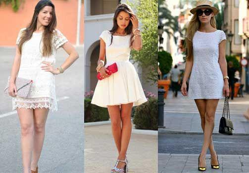 Vestido Corto Blanco En 2019 Combinar Vestido Blanco