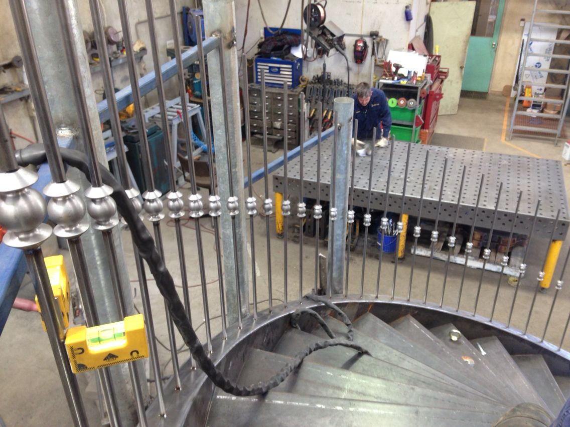 Slow and steady, tig welded balustrade