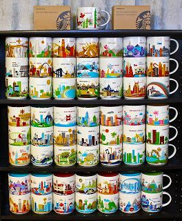 Starbucks You Are Here Collection coffee mugs...have to get them all