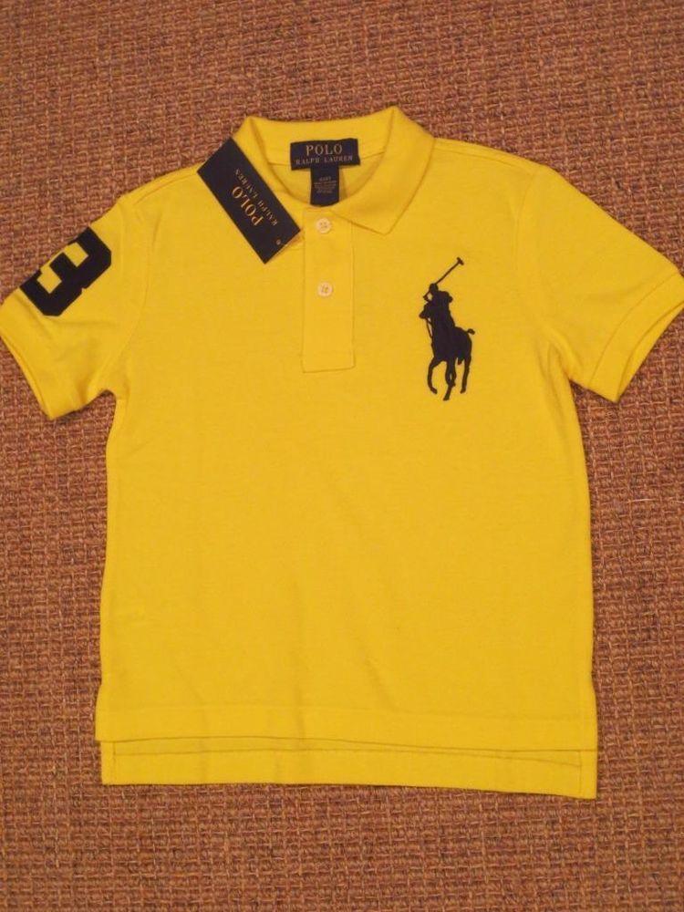 5e22d0c8a RALPH LAUREN BOYS 4 / 4T POLO SHIRT BIG PONY NEW YELLOW $39 TAG  #PoloRalphLauren