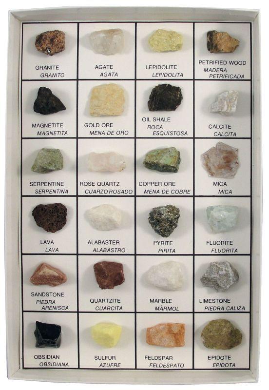 rock identification chart geography pinterest taşlar
