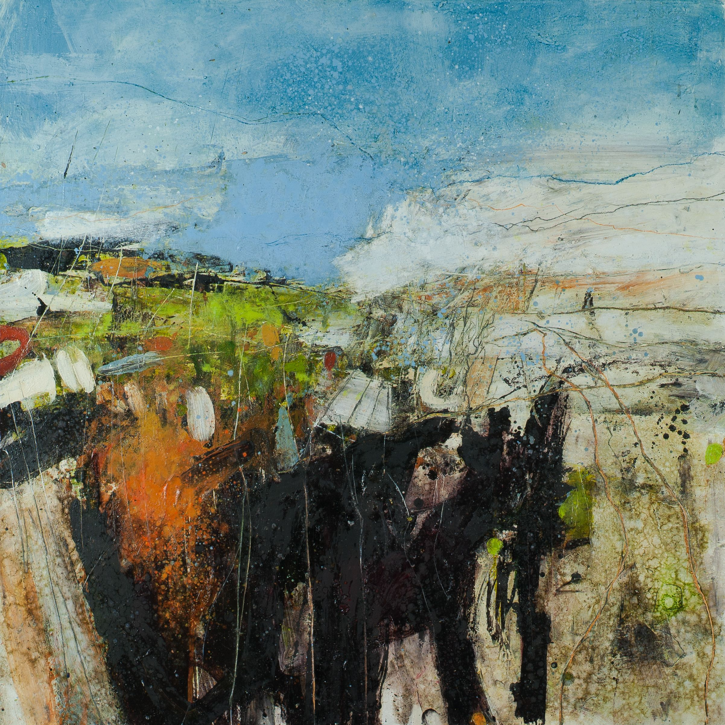 Contemporary british landscape paintings abstract
