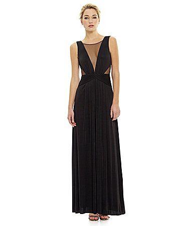 Bcbgmaxazria Magdalena Knit Evening Gown Dillards Clothes