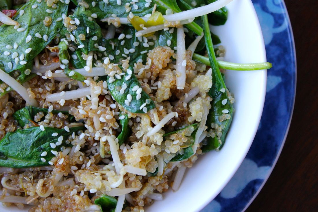 quinoa sesam roerbak