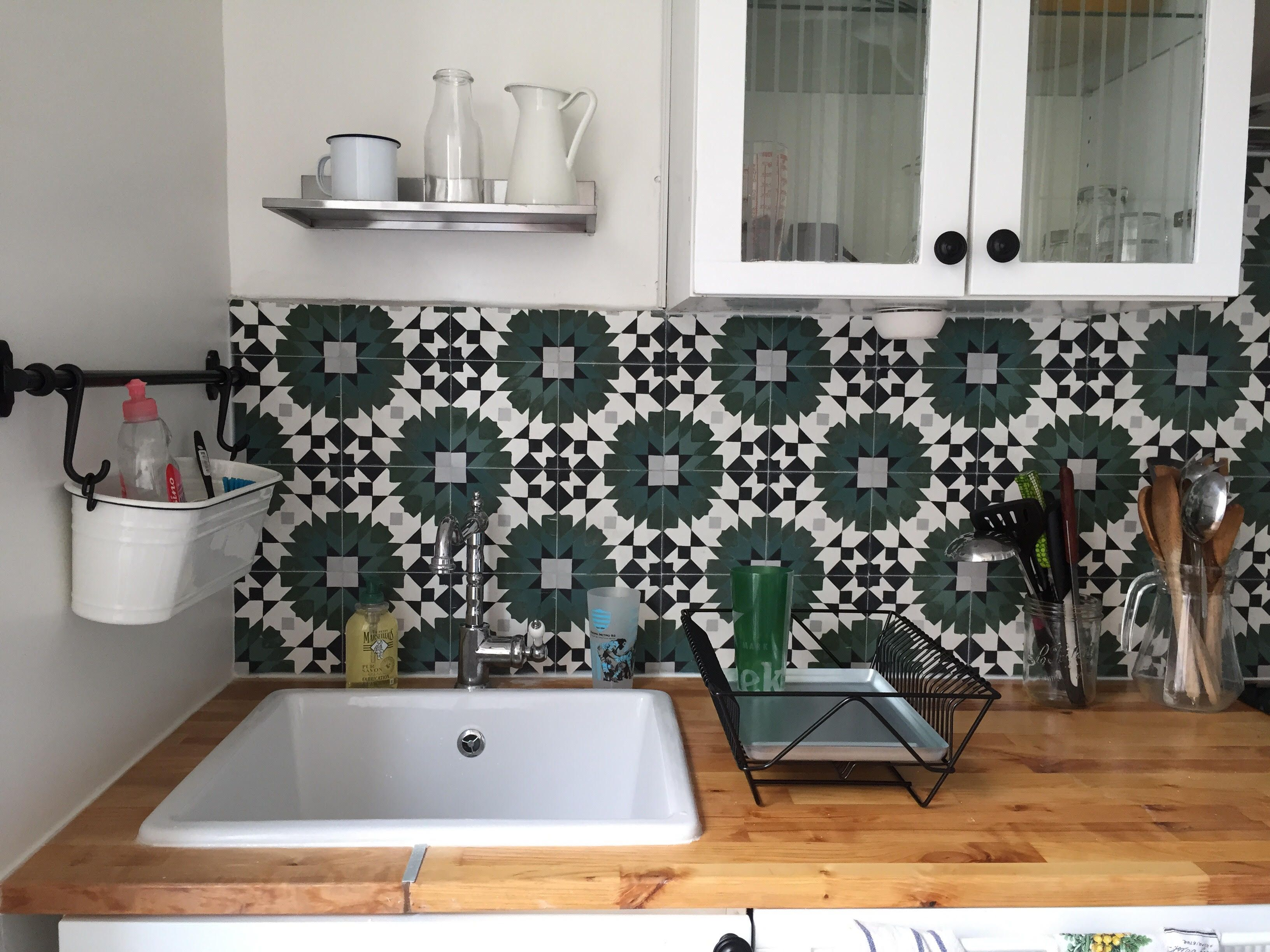 cr dence carreaux de ciment sur mesure cement tiles bathroom tile. Black Bedroom Furniture Sets. Home Design Ideas
