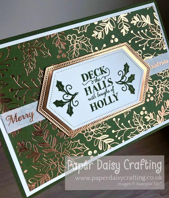 Deck the Halls Christmas card with Christmas Gleaming