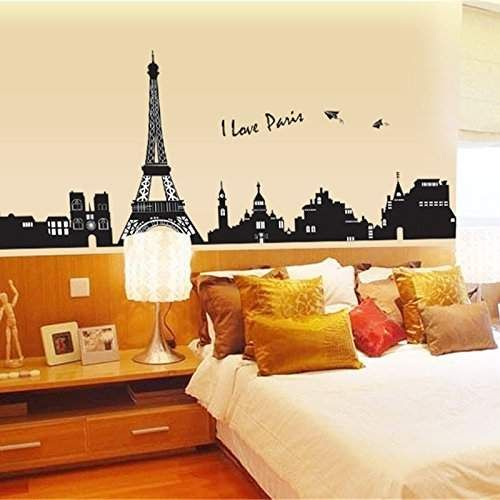 Wall Decals Paris Eiffel Tower, Home Inspira DIY Removable PVC Art Decals  Wall Murals Vinyl