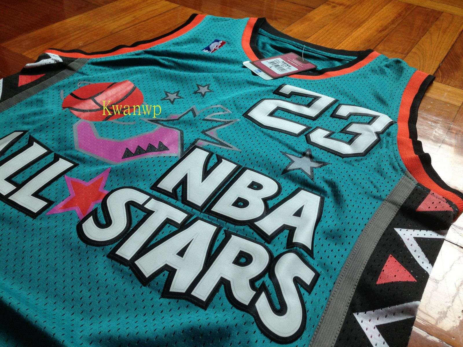 c67dcd6c9 ... nba 96 all star east chicago bulls michael jordan jersey l nwt new rare  vintage
