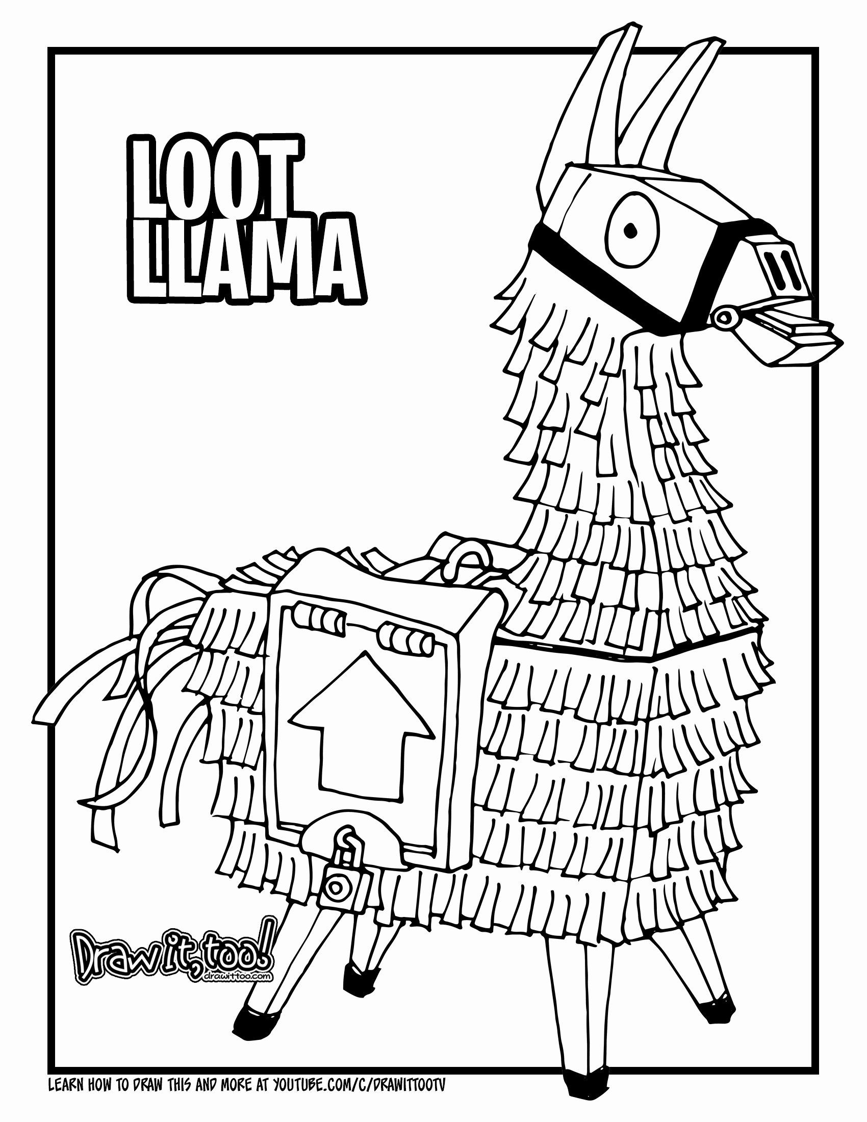 Fortnite Llama Coloring Page Inspirational How To Draw The Loot Llama Fortnite Battle Royale Drawing Tutorial Coloring Pages Coloring Books Llama Drawing