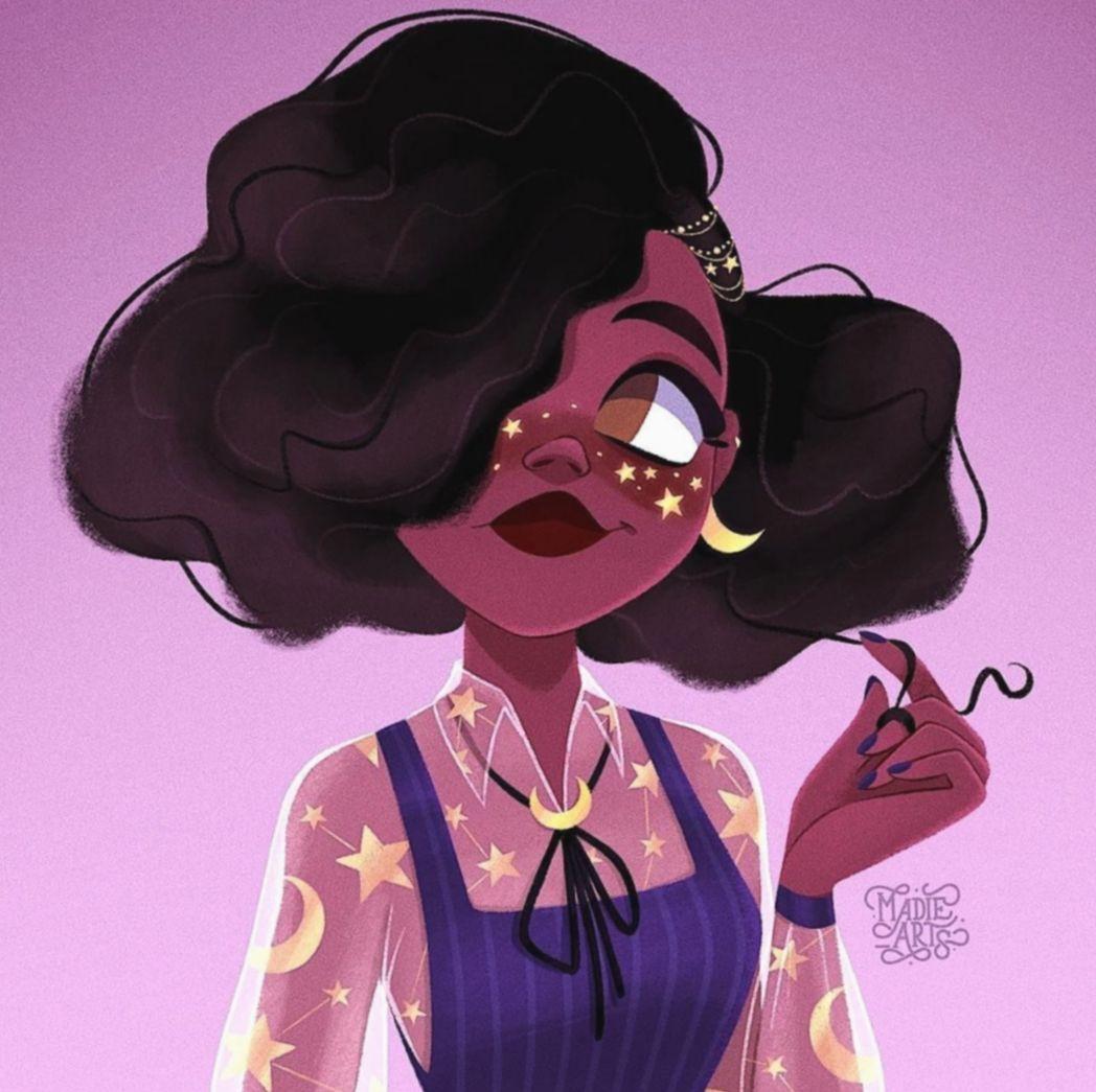 Cute Aesthetic Black Girl amizades mundorosa