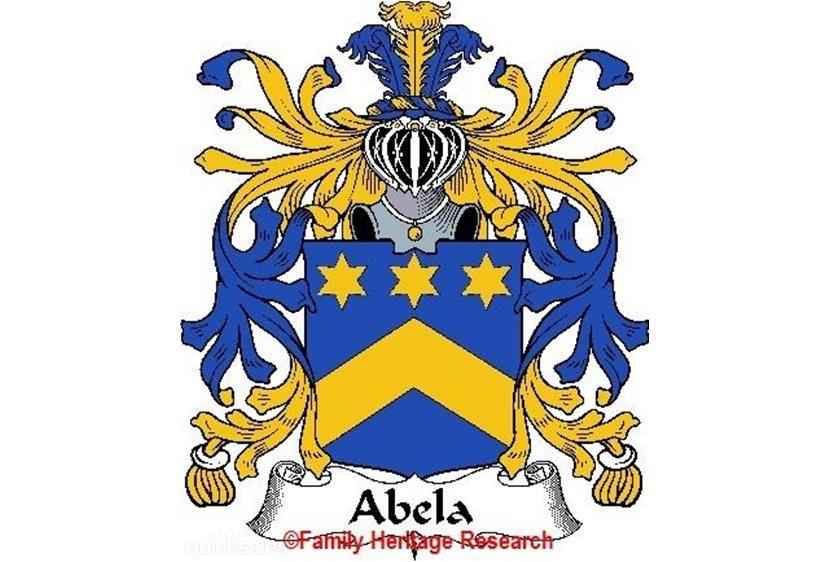 Abela Italian Coat Of Arms Print Family History Crest Italian