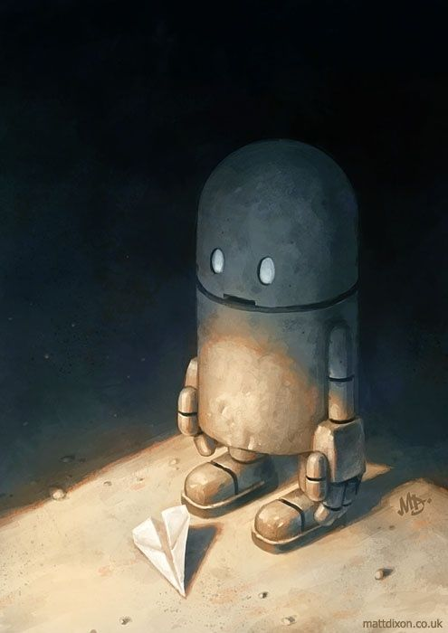 Check out these amazing pieces of art featuring robots! (If you know the names or artists of these pieces, let me know!)