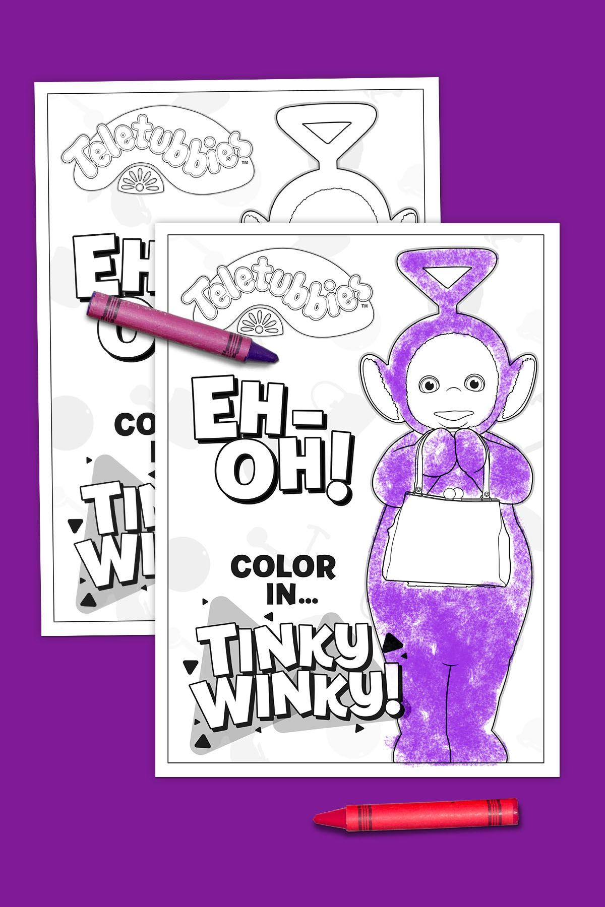 Teletubbies Coloring Page: Tinky Winky