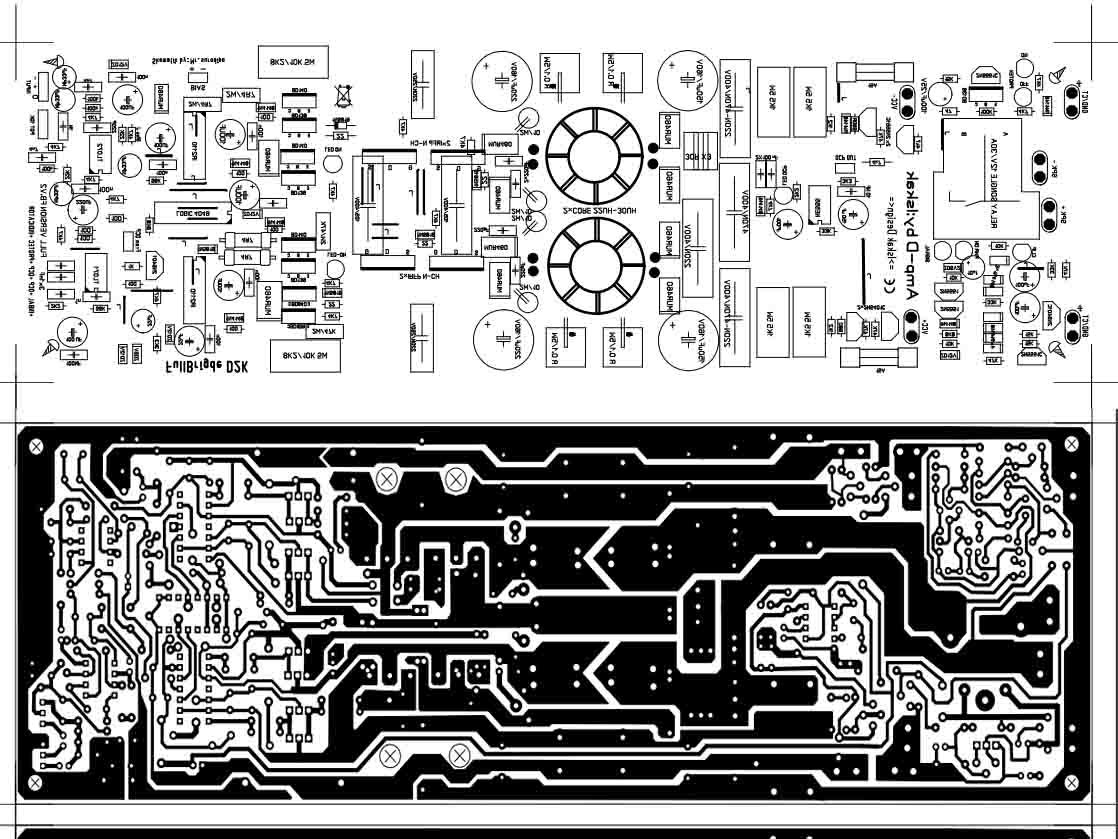 audio amplifier circuit diagram with layout phone socket wiring power class d fullbridge d2k 2000watts
