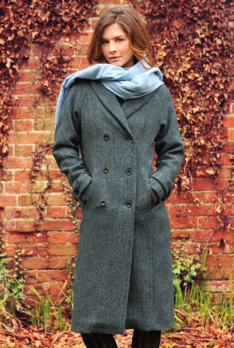 Harris Tweed Coat - Ladies' Coats & Jackets | Brora | Coat ...