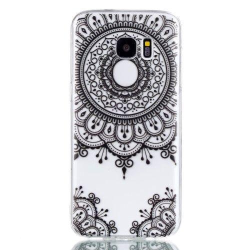 Coque Samsung Galaxy S7 Edge Transparente Mandala Dentelle