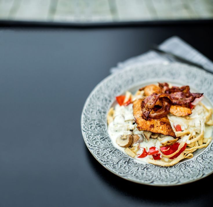 Low Carb Chicken Alfredo 12g – Recipes. #ketorecipes #keto #ketodiet #ketogenic #ketogenicdiet #heal...