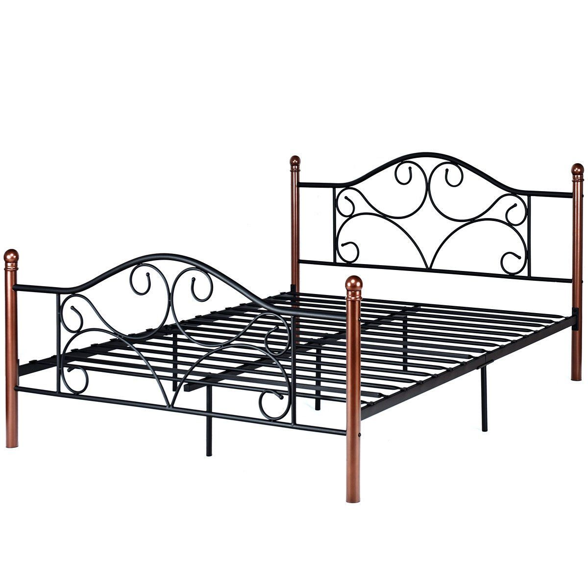 Best Queen Size Steel Bed Frame With Stable Platform And Metal 400 x 300