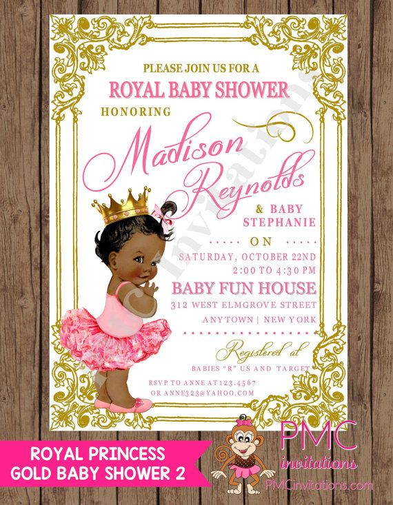 african american baby shower invitation ribbons bows by gvites, Baby shower invitations