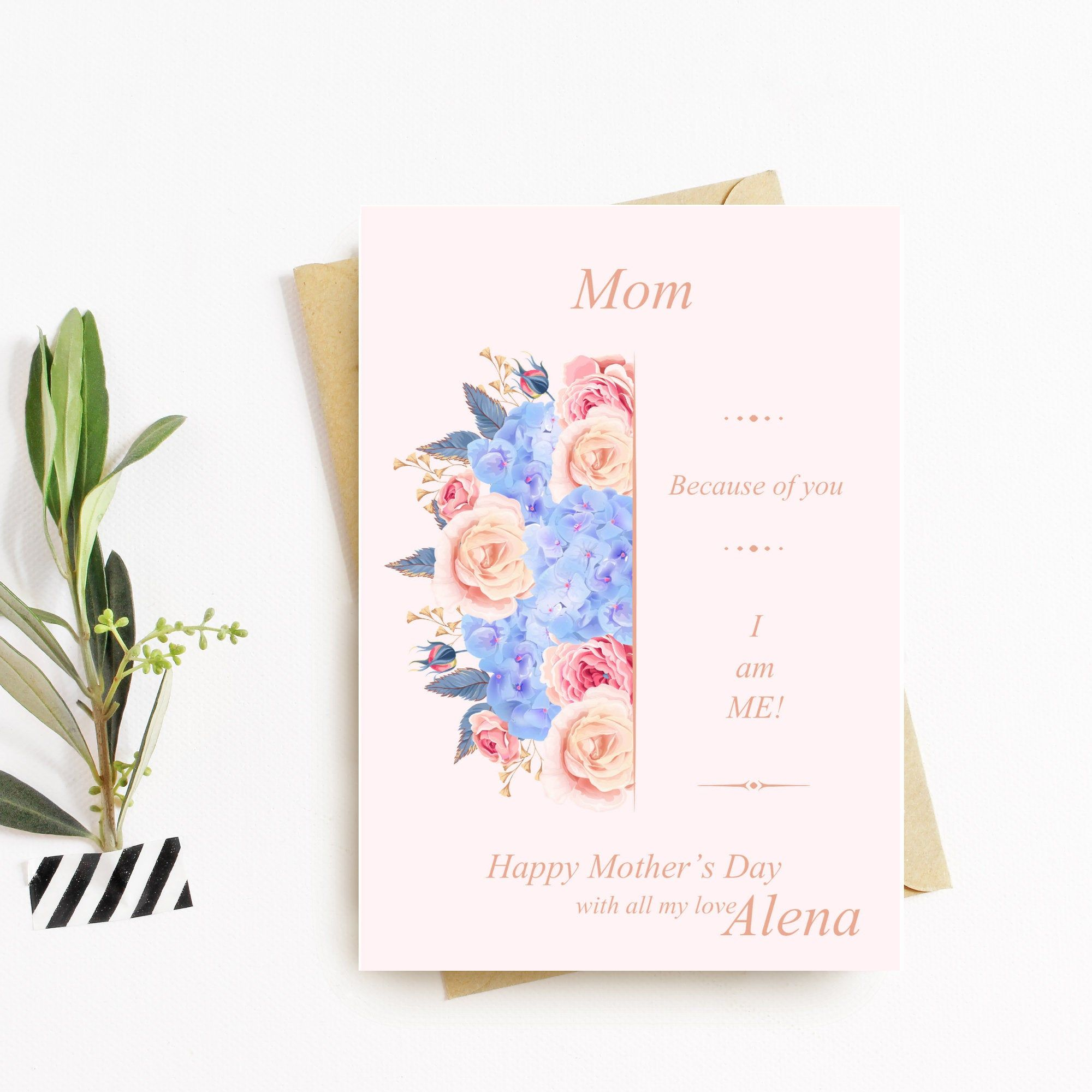 Happy mothers day because of you digital download