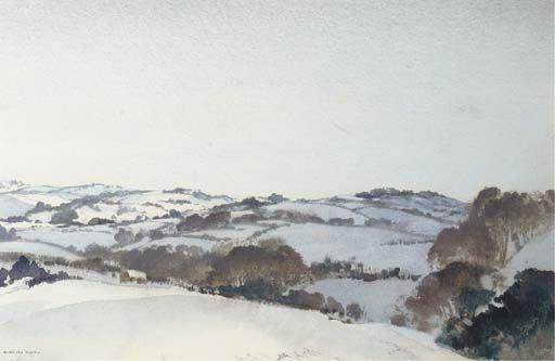 William Russell Flint - Snow in South Devon