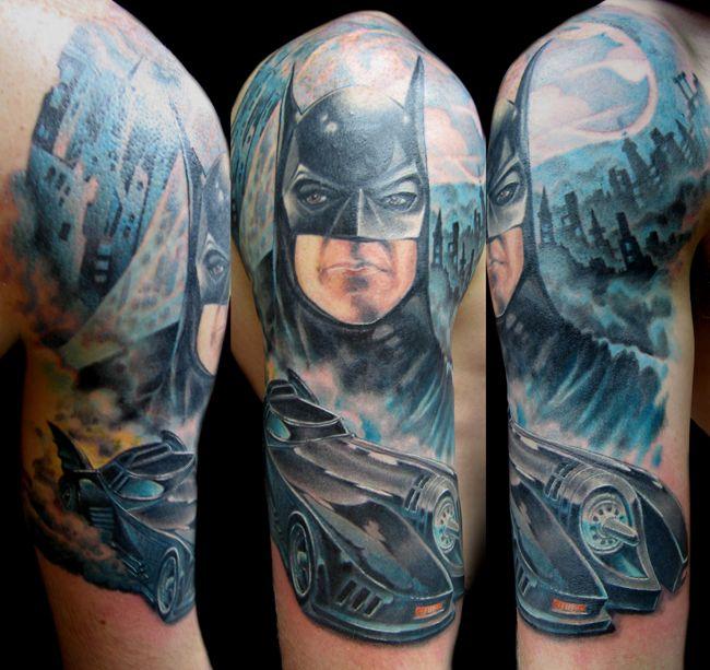 One Of The Best Tattoos Ever 3 Batman Tattoo Full Sleeve Tattoo Design Tattoo Artists