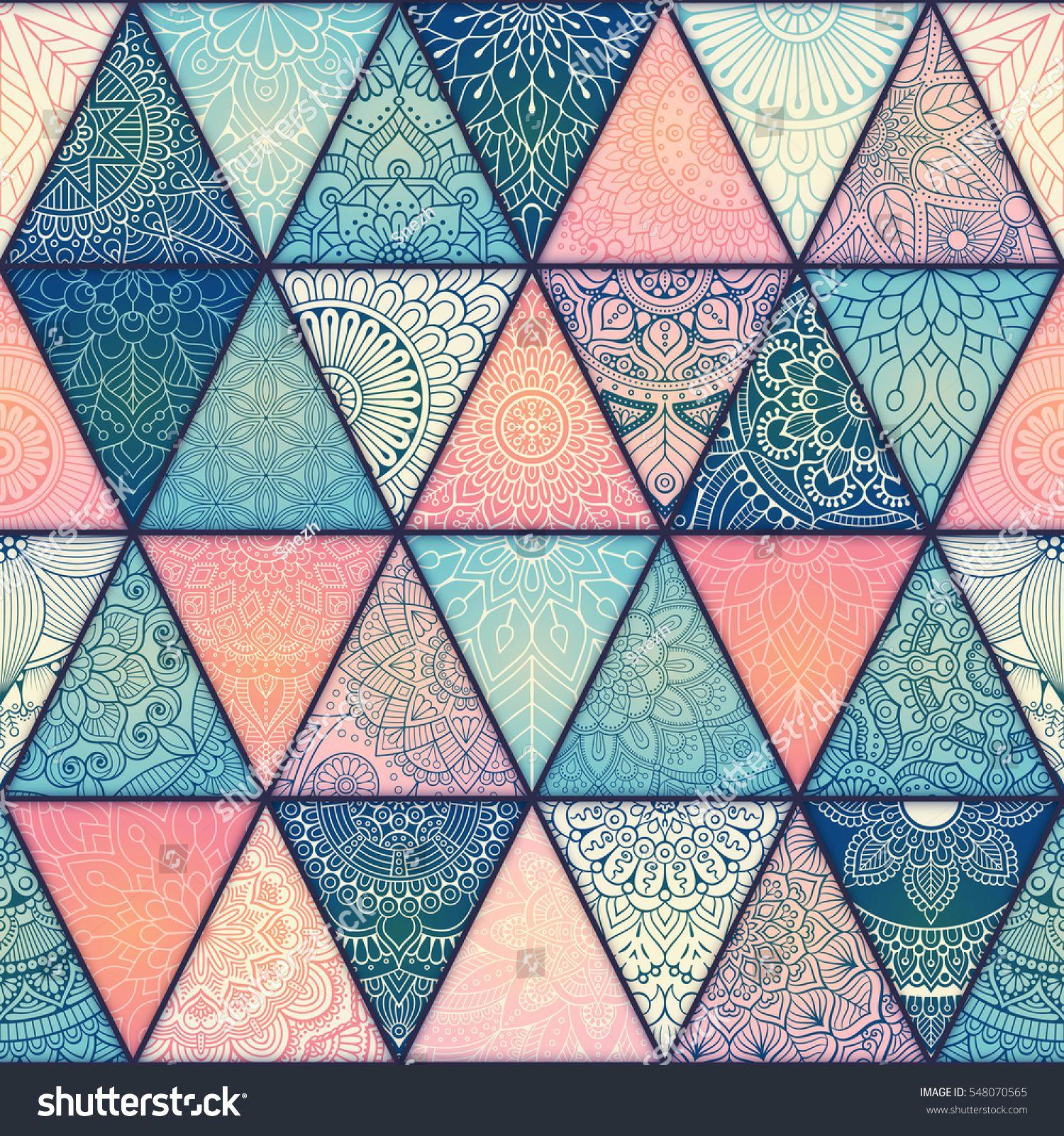 Seamless mandalas pattern. Vintage decorative elements with mandala ...