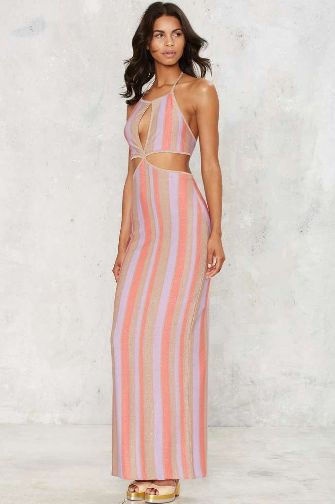 Nasty Gal Move On Up Lurex Dress - Clothes   Nasty Gal Collection ...
