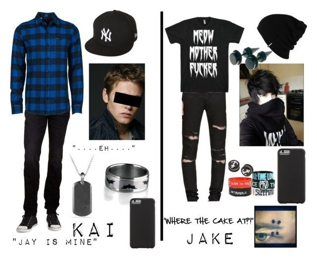 """""""My friends part 3"""" by jayjay2002 ❤ liked on Polyvore featuring Hudson Jeans, Volcom, New Era, David Yurman, Yves Saint Laurent, Patagonia, Case-Mate, mens, men and men's wear"""