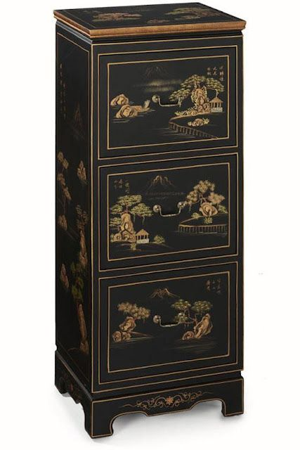 Chinoiserie Filing Cabinets