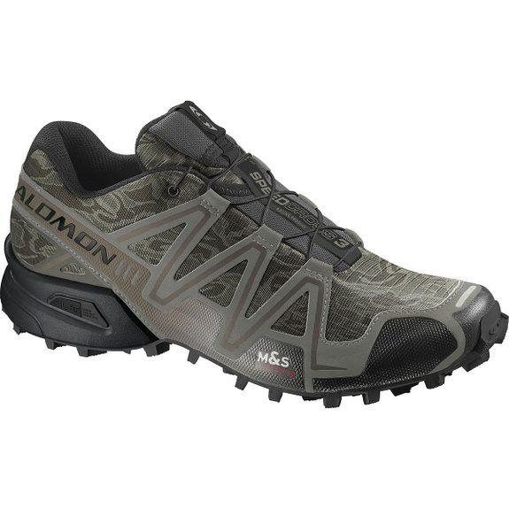 Salomon Men S Speedcross 3 Mountain Trail Camo Titanium Dark Titanium Swamp 9 5 M Us Mens Trail Running Shoes Best Trail Running Shoes Shoes Mens