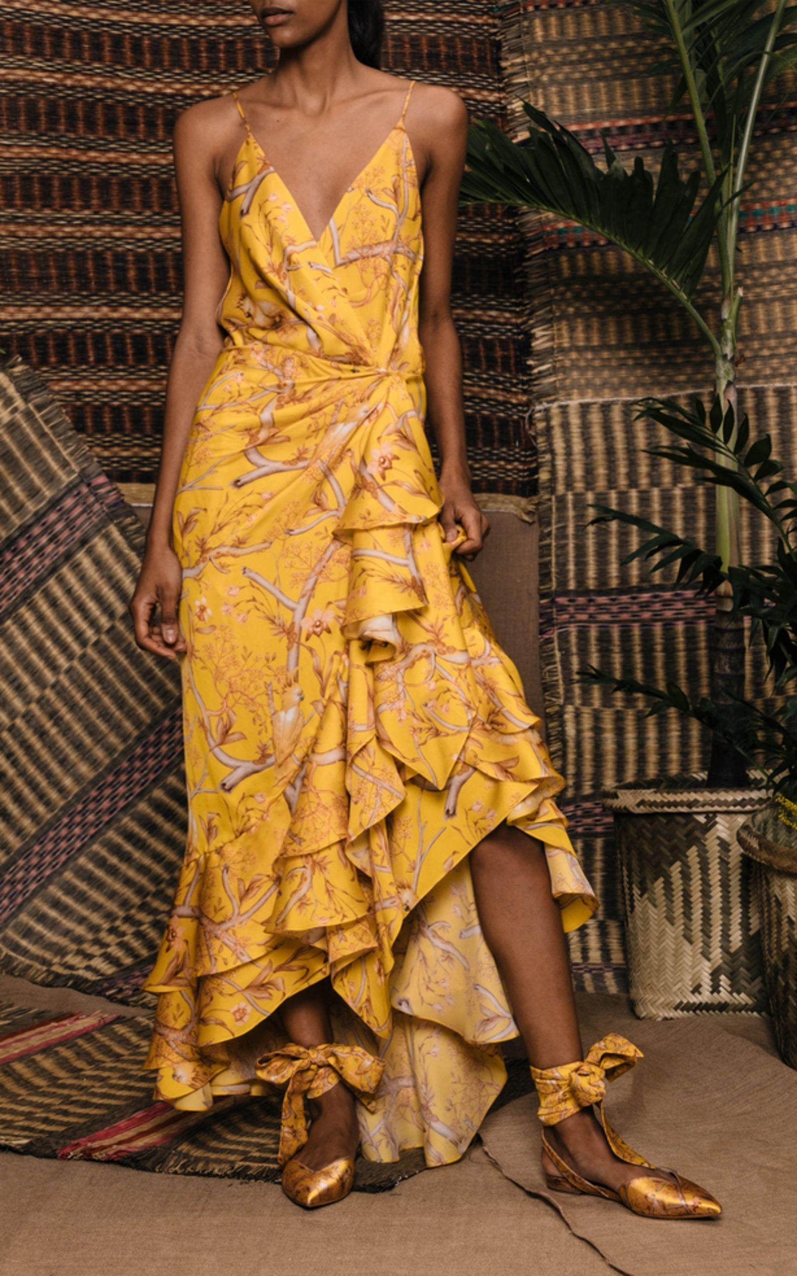 2e4697fc05 Milagro De Miel Wrap Dress by JOHANNA ORTIZ for Preorder on Moda ...