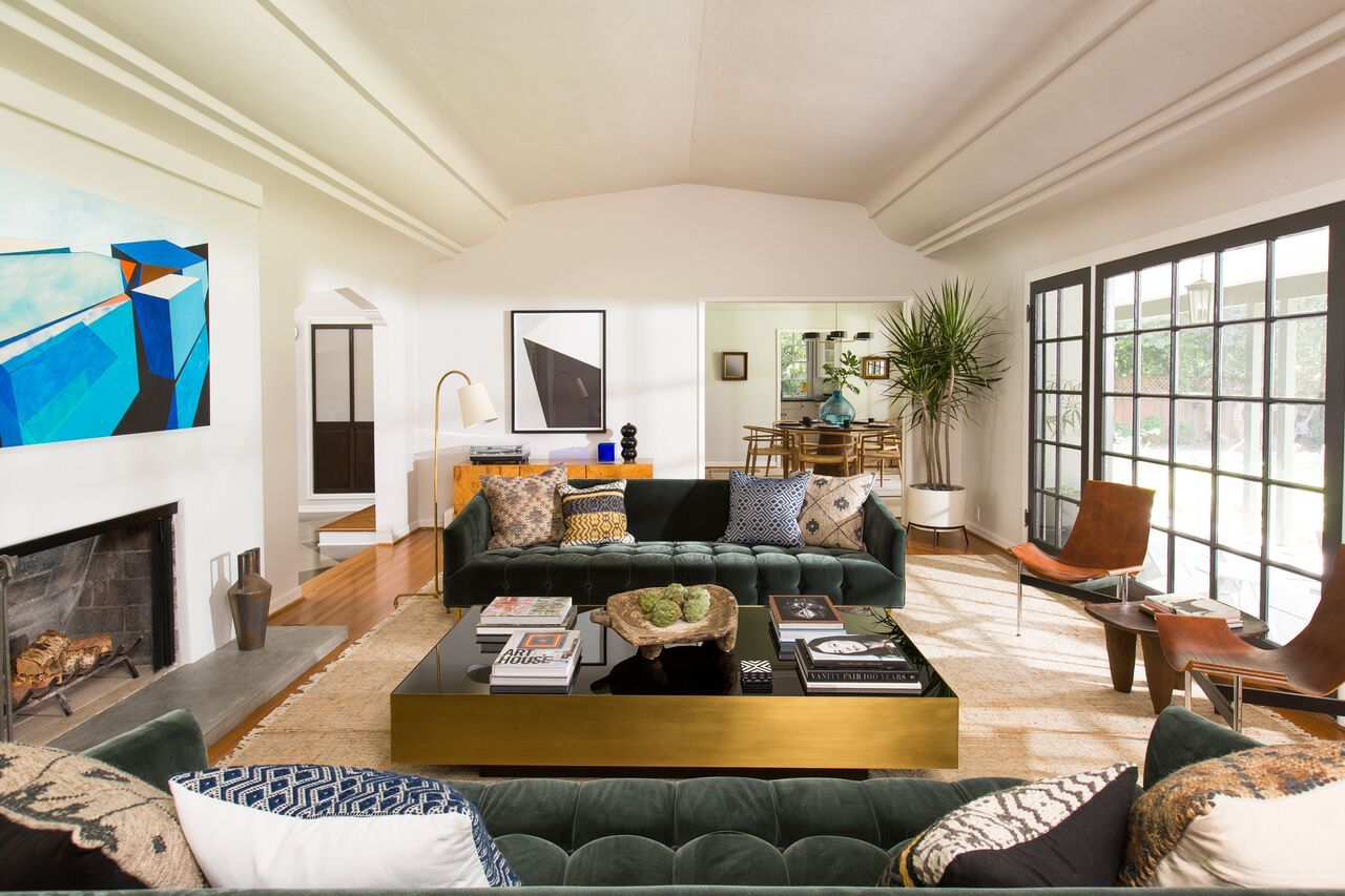 How Design Helped Scandal Star Katie Lowes Adam Shapiro Prepare For Their Biggest Roles Yet Home Living Room Inspiration Interior
