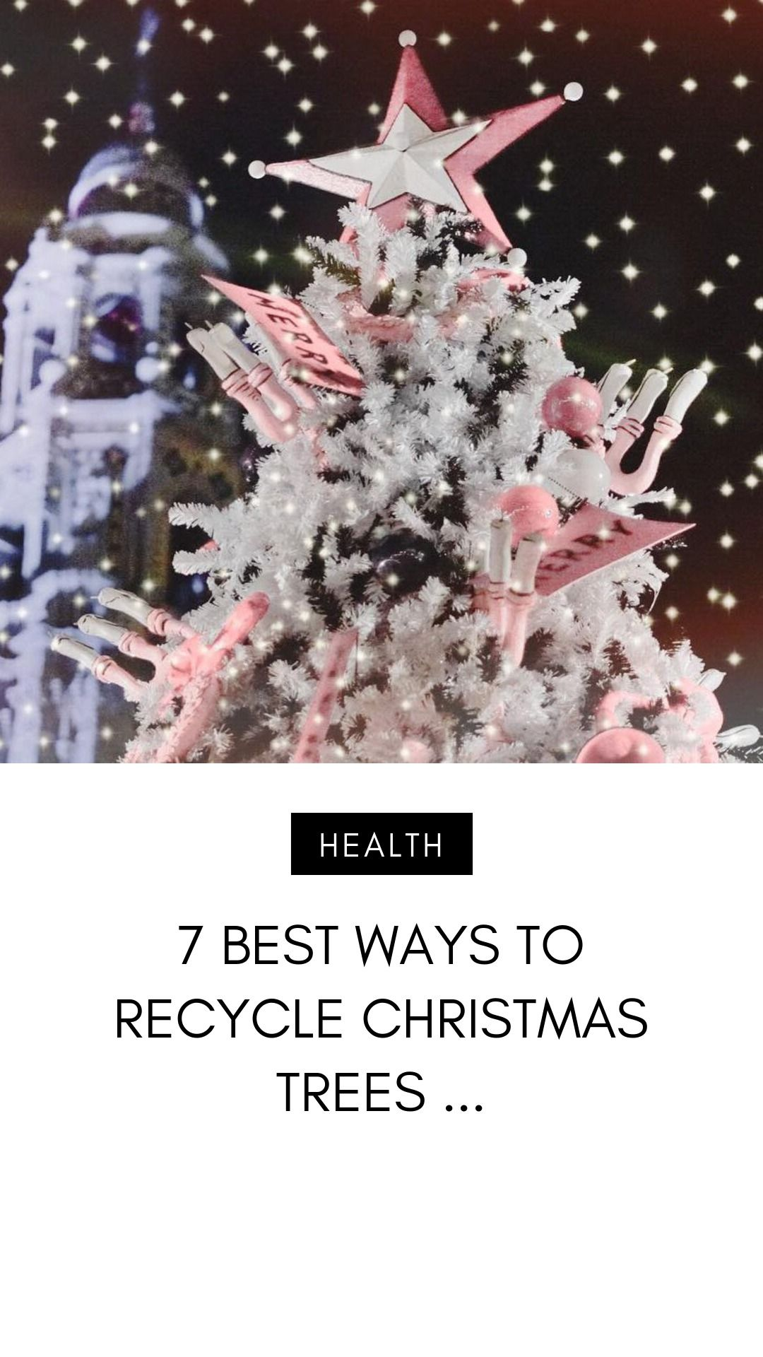 There Are A Few Ways To Recycle Christmas Tree Parts Now That Christmas Is Over And Done With Many Peo In 2020 Recycled Christmas Tree Christmas Tree Ways To Recycle