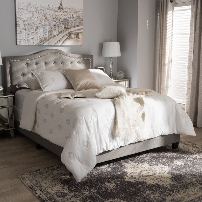 Roberto Fabric Upholstered Standard Bed In 2020 Upholstered Platform Bed Bedroom Furniture Furniture