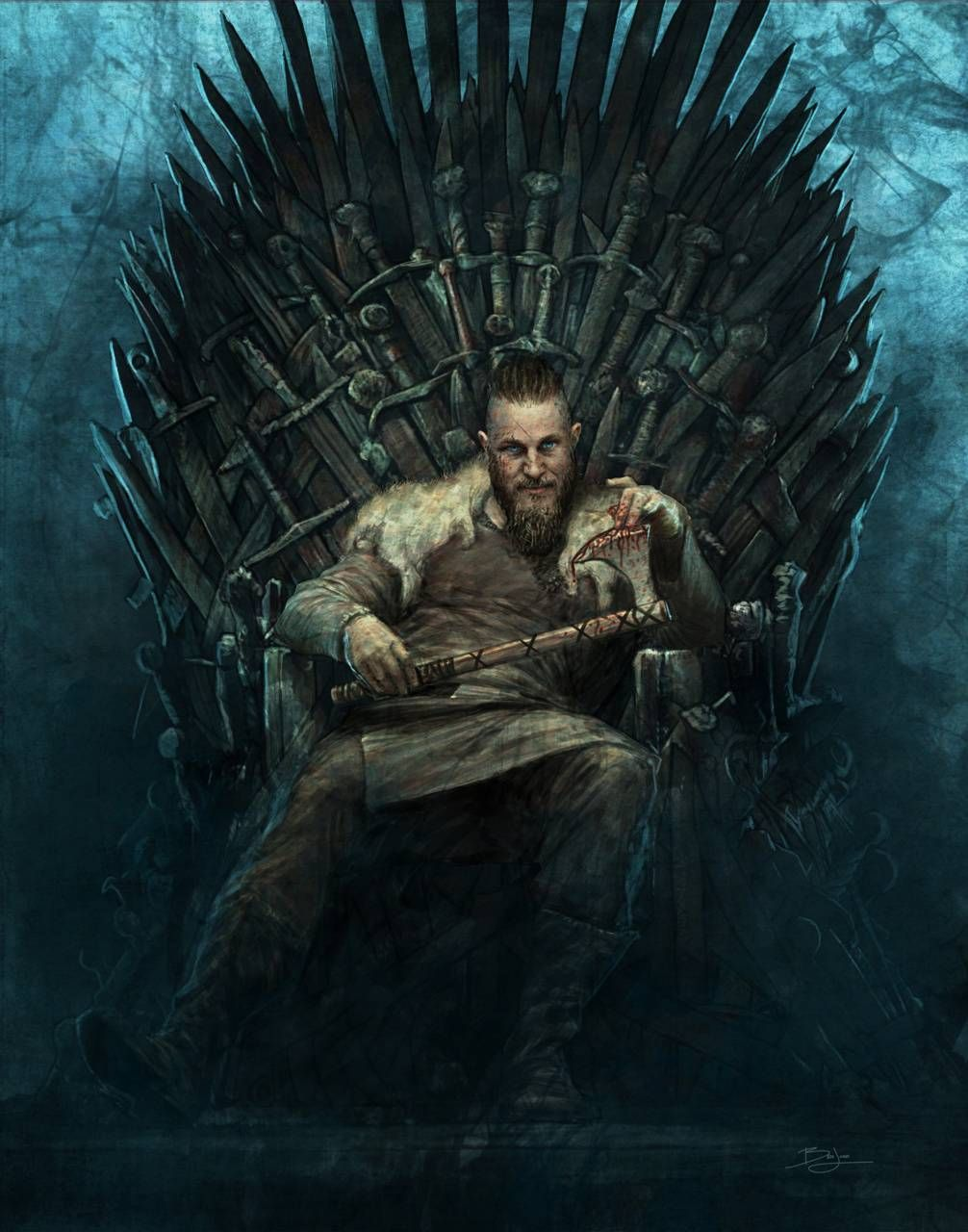 Download Ragnar Of Thrones Wallpaper By Calderon1209 4e Free On Zedge Now Browse Millions Of Popular Game Wallpapers King Ragnar Art Digital Art Gallery