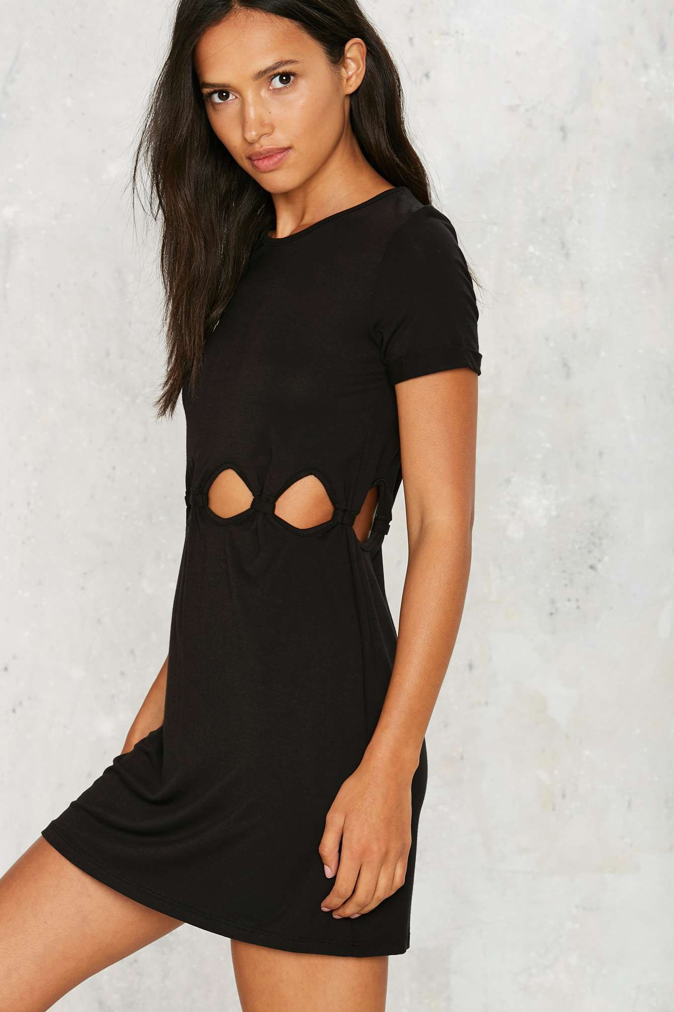 Stay coolinu not foolinu the hole lotta love dress comes in black