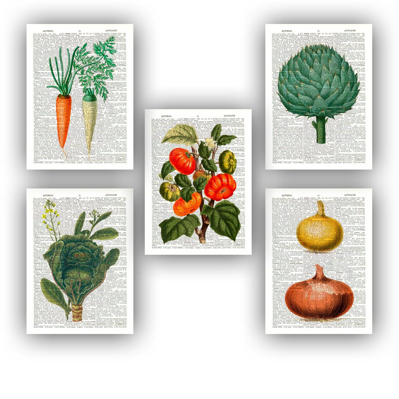 Kitchen Decor Vegetables: Kitchen Wall Art, Kitchen Poster, Vegetables Art, Kitchen
