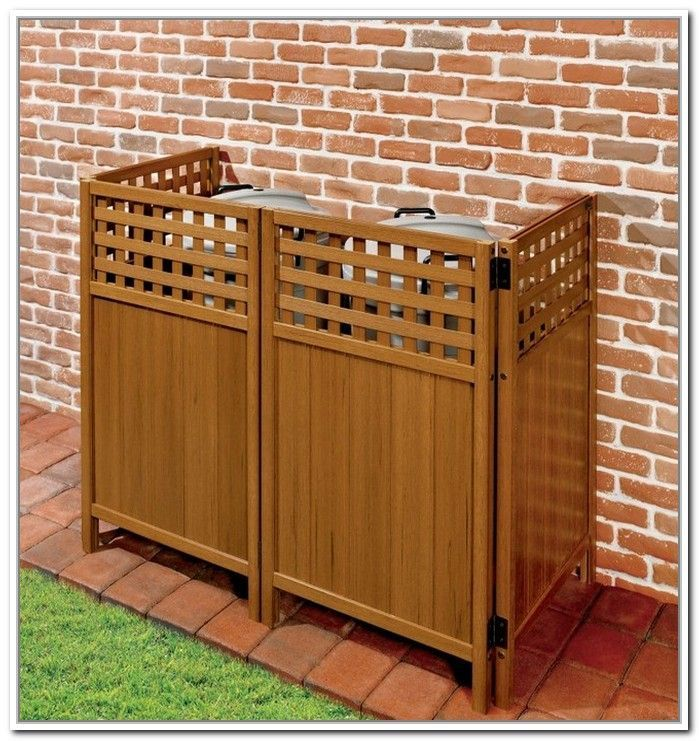 Trash Can Storage Outdoor Home Design Ideas Outside With
