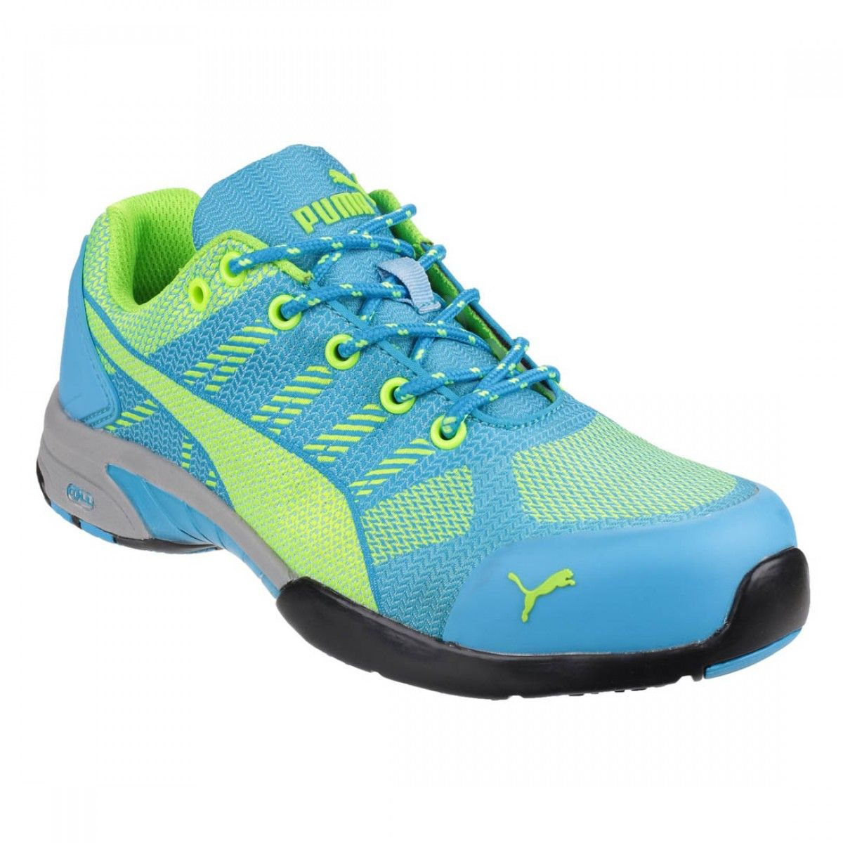 Puma Safety Celerity Knit Blue and Lime Ladies Safety