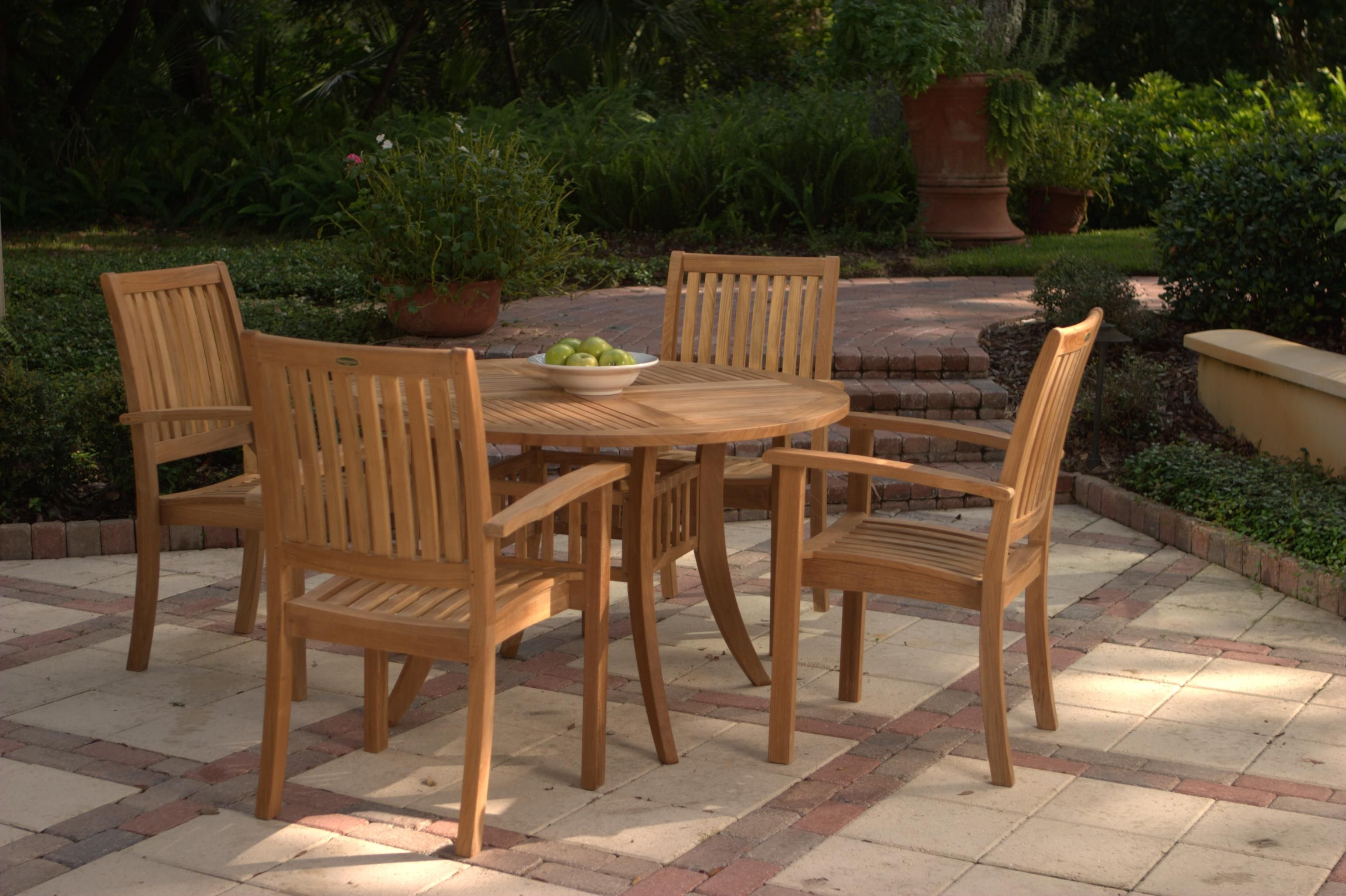 4ft Round Grand Hyatt Outdoor Patio Table from Westminster ...
