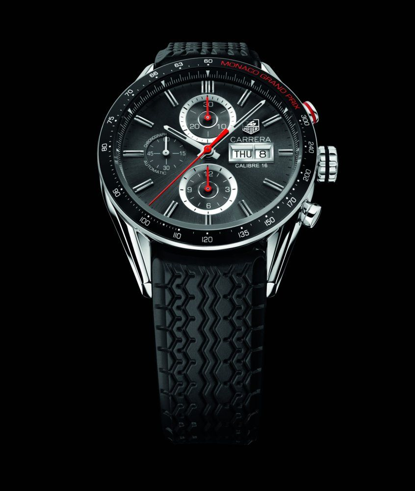 tag heuer carrera calibre 16 chronograph day date grand prix de monaco accesories pinterest. Black Bedroom Furniture Sets. Home Design Ideas